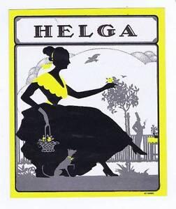 Helga, Original Externe Cigare Boîte Label, Femme Et Chien Silhouette Vns246ze-08012502-426549233