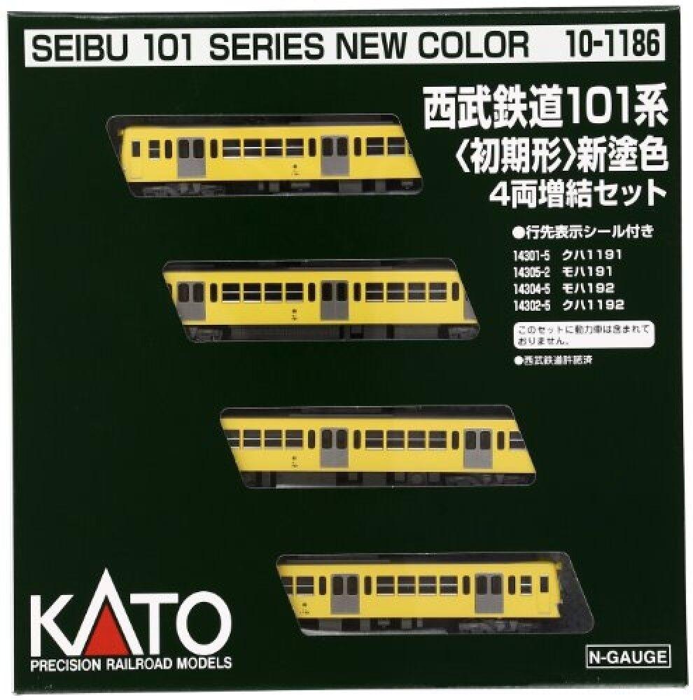 KATO 10-1186 N Gauge Seibu Railway 101 Initial shape increasing 4-inch set Train