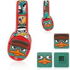 Nabi Kids DJ Headphones Perry Platypus 3D Figure & Decal Wrap Phineas & Ferb New