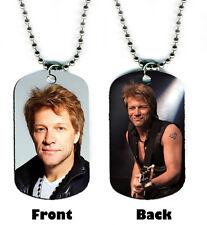 DOG TAG NECKLACE - Jon Bon Jovi 1 NOW Rock Singer Songwriter Guitar icon 1980s