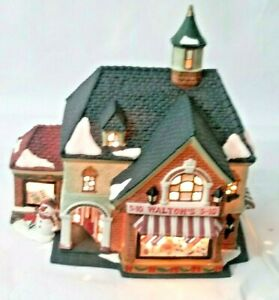 Holiday-Time-Walton-s-5-amp-10-Village-Collectibles-House-Store-Lighted-Christmas