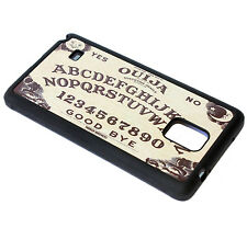 for Samsung Galaxy Note 4 - Black Ouija Board Hard TPU Rubber Gummy Case Cover