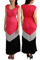 Maternity Dress Womens Fashionable Wear Pregnancy Clothes Short Sleeve Pink Gray