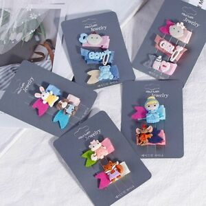 Children-039-s-Cute-Cartoon-Animals-Girl-Hair-Accessories-Cloth-Princess-Hair-Clip-v