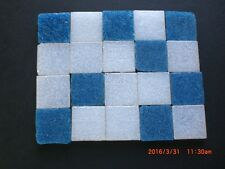 20 x 20 mm Blue & White Mix Vitreous Glass Mosaic 3 mm thick - 50 Tiles