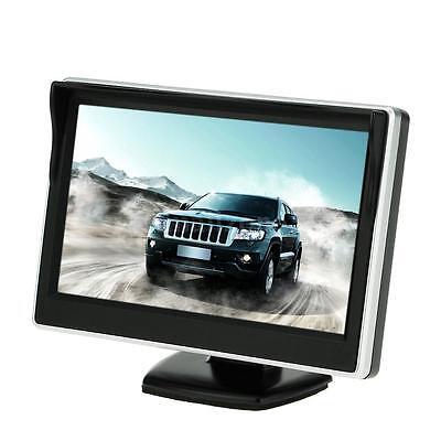 "2 AV Input 5"" TFT LCD Car Truck Rearview Reverse Monitor Display + Sunshade G8Q1"
