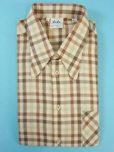 Shirt-men-039-s-TRUE-VINTAGE-1970s-70s-DEADSTOCK-worker-chore-Size-L-HV1851