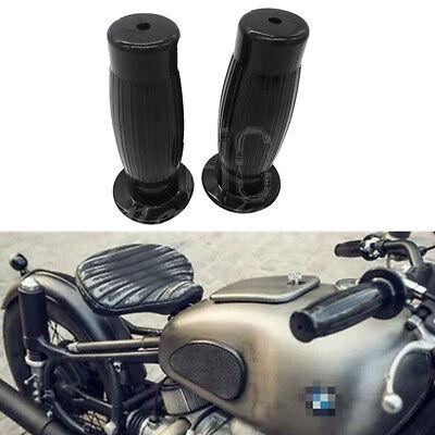 "Silver Motorcycle Handlebar Hand Grip Rubber Universal For 7//8/"" Bar Suzuki Honda"