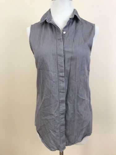 Everlane Gray Top Sleeveless Chambray Sz XS