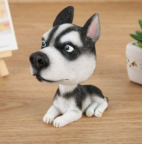 Siberian Husky Dog Bobbing Head Nodding Dog Mini Bobble-Head Toys Car Decoration