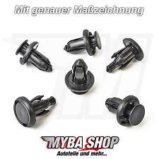 10x Clips Stossstangen Befestigungs Klips für Mitsubishi Honda Civic Acura Jazz