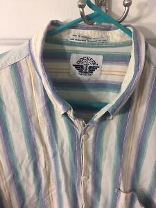 Vintage-Dockers-LEVIS-Shirt-Mens-Striped-Large