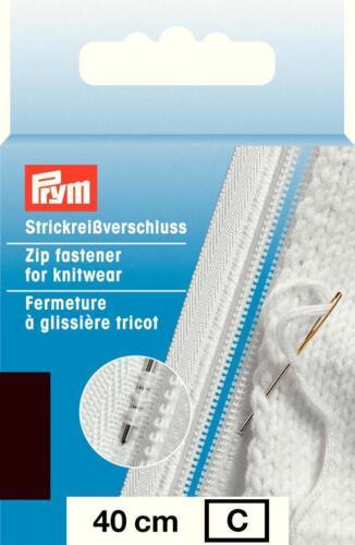 Prym tricot Fermeture éclair fermeture eclair s9 divisible//plastique 40cm par anstricken