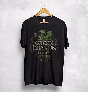 3c2e2d89b9308b Grün Drachen Lager T-Shirt Herr der Ringe Bywater Brauerei Ale Stout ...