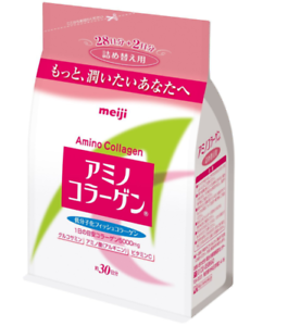 From Japan epacket New Meiji Amino Collagen powder for refill 214g