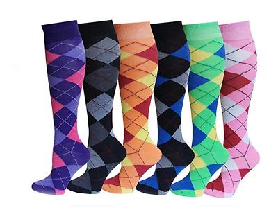12Prs Women/'s Argyle Horse Design Horse riding Socks Ladies Knee high Socks Lot
