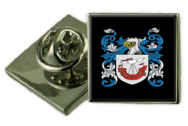 2019 Mode Owens Irland Familie Wappen Wappen Revers Pin Abzeichen Graviert Geschenk Hülle