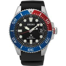 SEIKO MEN'S PROSPEX 44MM BLACK SILICONE BAND STEEL CASE SOLAR WATCH SNE439