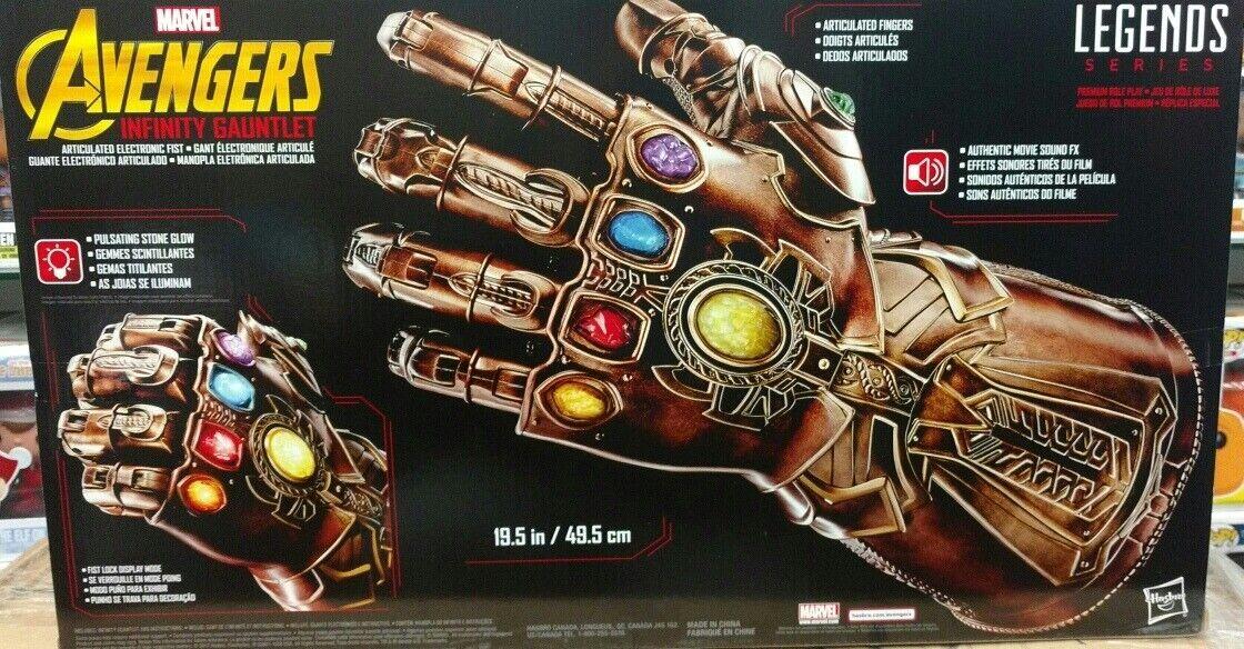 Hasbro Marvel Legends Infinito Thanos guantelete articulado electrónico Puño