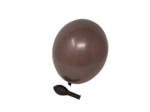 100 Luftballons braun Standardgröße Partyballons Qualität aus Europa