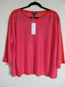 Eileen-Fisher-Bateau-Neck-Top-Organic-Linen-Cherry-Lane-Pink-Size-XL-NWT-188
