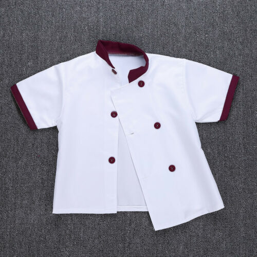 Kid Boy Girl Cook Chef Costume Cosplay Party Fancy Dress Up Outfit Stage Clothes