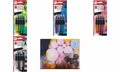 "Marabu Aquarell Wachsmalstift /""Art Crayon/"" Lovely Red 4 Stifte"