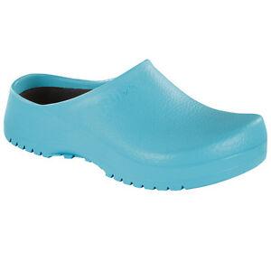 Birkenstock Super Birki Clogs Schuhe ciel blue light 068501 Pantoletten Birkis