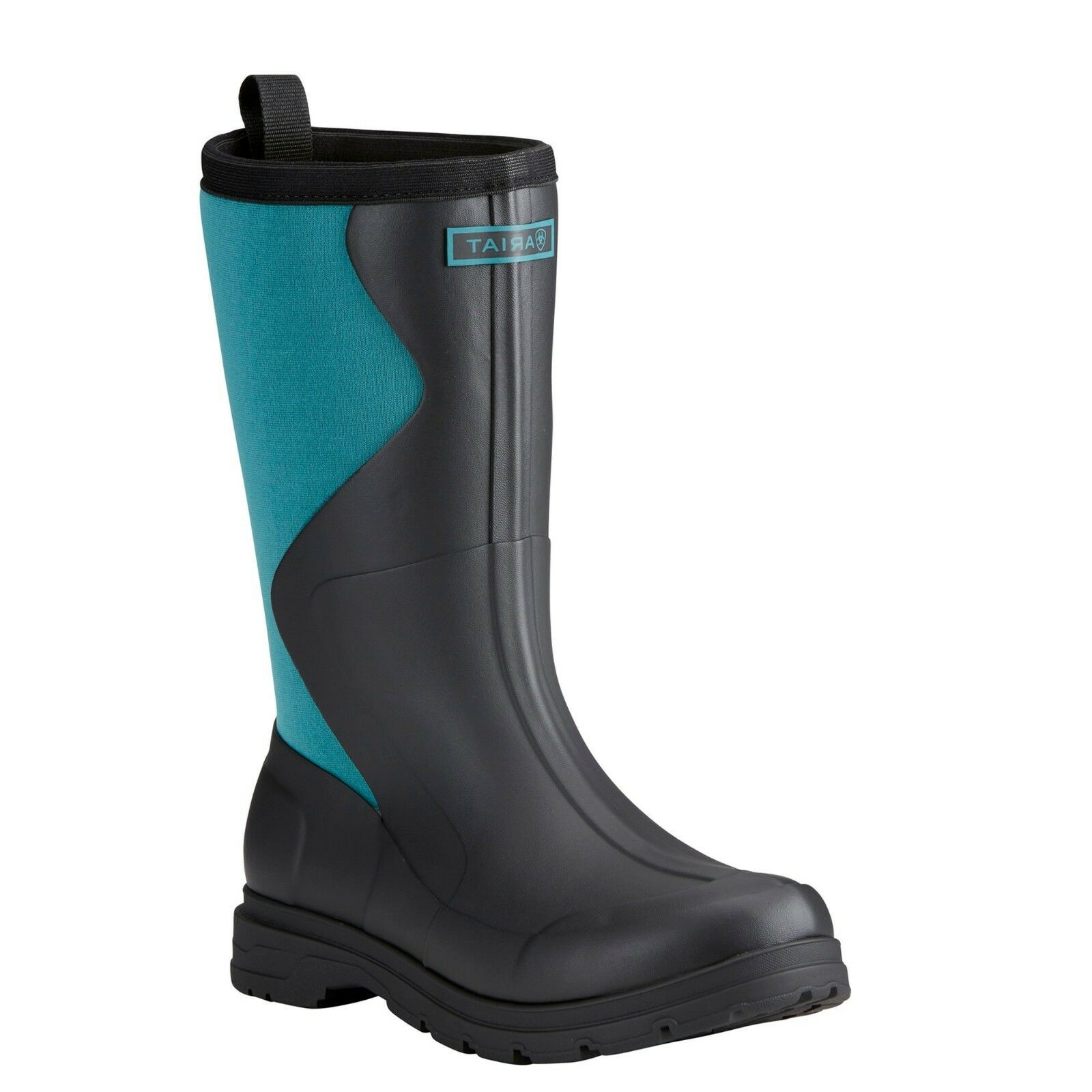 Ariat® Ladies Springfield Dusty Black/Teal Rubber Boot 10021520