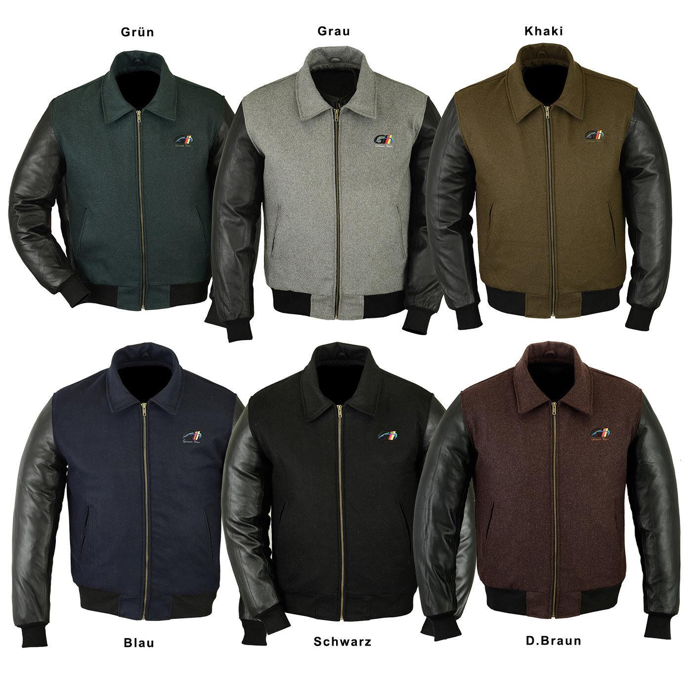 Germanwear College chaqueta chaqueta lana College cazadora Varsity chaqueta con cuero mangas de cuero con aa55a5