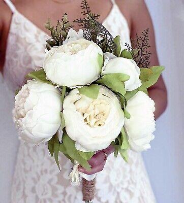 Silk Wedding Bridal Flower Bouquet Handmade Beautiful Bouquet Modern Ebay