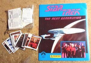 1989-Star-Trek-Next-Generation-Panini-Album-amp-240-Sticker-Set-Unused