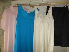 Lot of Vintage Lingerie Nightgowns Slips Nylon Lace Ruffle Lingerie Lot of 4