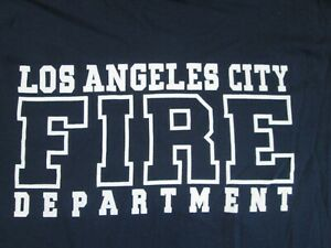 LOS ANGELES LA CITY FIRE DEPARTMENT LAFD T SHIRT MEDIUM GILDAN HEAVY COTTON
