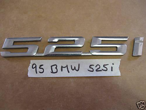 93-98 BMW 525I OEM Trunk  Emblem