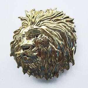 Hommes-boucle-de-ceinture-ORIGINAL-Lion-Tete-Boucle-de-ceinture-Gurtelschnalle-Boucle-de-ceinture