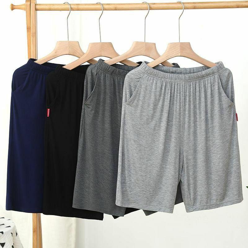 Pantalones Cortos para Hombre Jogging Informal Deportivo Talla Plus Transpirable Casa De Algodón Pantalones Cortos