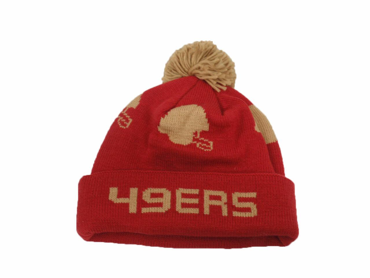 Mitchell /& Ness Mens San Francisco 49ers High 5 Beanie