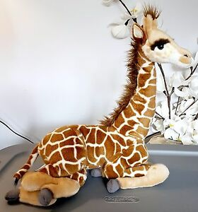Hansa 3303 Retired Plush Laying Giraffe Stuffed Toy Animal Wire