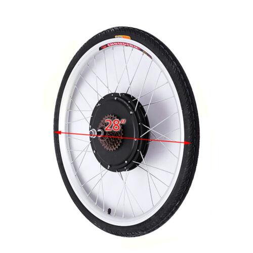 """28/"""" Kit de Conversion vélo E électrique avec roue arrière de Heckmotor 48V 1000W"""