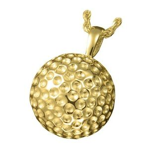 Sport golf ball ash holder cremation urn pendant necklace gold image is loading sport golf ball ash holder cremation urn pendant aloadofball Choice Image