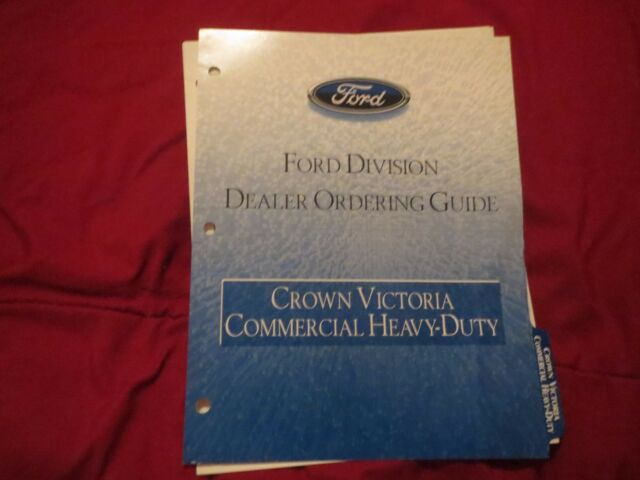 2001 Ford Crown Victoria Commercial Heavy Duty Dealer