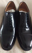 MENS LOAKE BLACK LEATHER 200B - OXFORD LACE UP SMART OFFICE SHOES SIZE 7