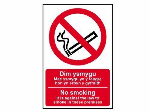 Scan 0578 PVC 200 x 300 mm no smoking anglais//Welsh SIGNE