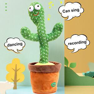 Cute Talking and Dancing Cactus Plush Toy Electronic Shake
