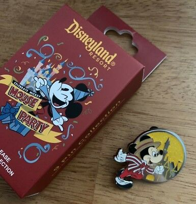 Authentic Mystery Disneyland Mickey Mouse Party 90th Birthday Dapper Dan Pin