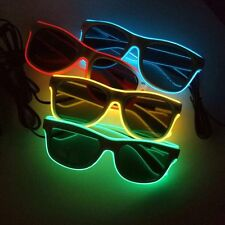 4 x Pairs Of Funky Flashing Neon Light Up Sunglasses - Ideal For Fancy Dress!