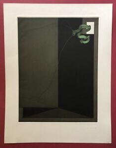 Johannes Schreiter, frammento spazio, farbradierung, 1974, firmato a mano