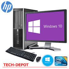 """HP Desktop Computer PC Core 2 Duo 4GB 250GB HD Windows 10 w/17"""" LCD Monitor WIFI"""