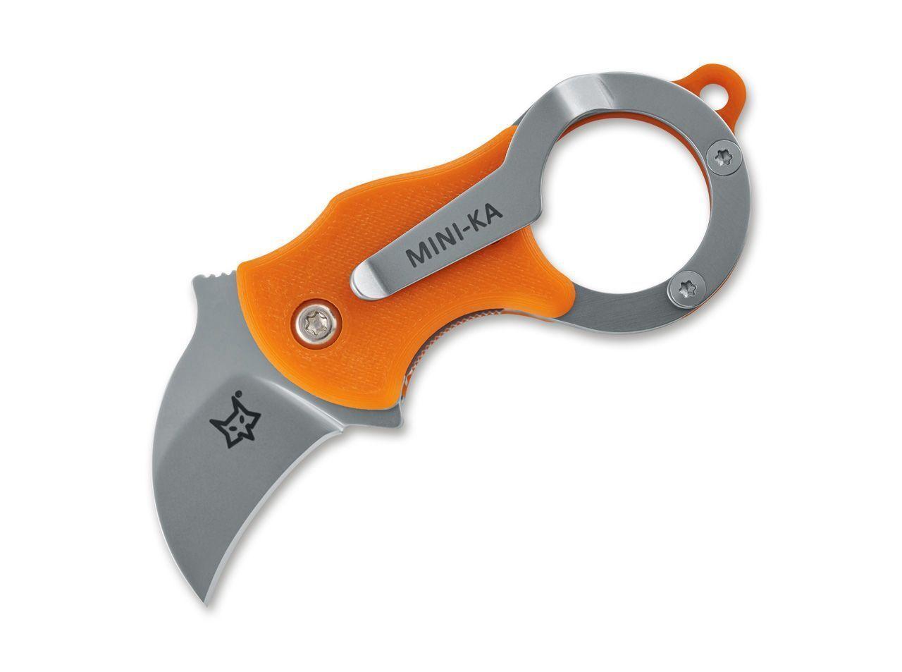 Fox Knives Mini-KA Orange sandblasted sandblasted sandblasted trousseau de clés couteau FRN LINERLOCK EDC 3107f5